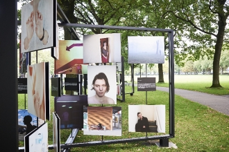 Bilder der Fotoausstellung. (Foto: Johannes Nemecky)