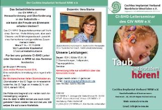Flyer Seite 1 - SHG Leiter Seminar des CIV NRW