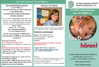 Flyer SHG Leiter Seminar des CIV NRW