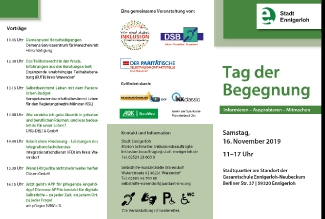 Flyer Tag der Begegnung
