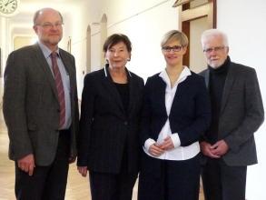 Professor Dr. Hans-Werner Huneke, Eva Luise Köhler, Professorin Dr. Andrea Wanka und Professor Dr. Klaus Sarimski (v.l.)  PHHD | Presse