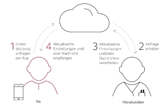 Funktionsweise des Hörakustiker-Online-Service (Foto: ReSound)