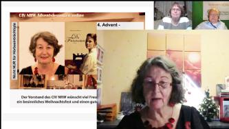 """20.12.2020 4. Adventssonntag, Online- Lesung des CIV NRW Thema """"die Flickschneiderin"""" von Maryanne Becker"""