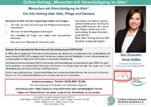 """Online-Vortrag """"Menschen mit Hörschädigung im Alter"""""""