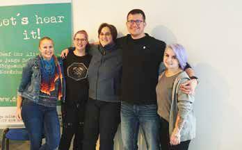 Das Team der Jungen CI Selbsthilfe NRW (DOA NRW)